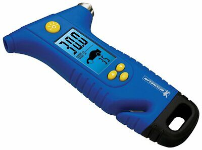 Radient Michelin Mn-4205b Programmable Tire Gauge W/emergency Hammer & Seat Belt Cutter
