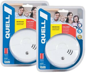 Fabulous Quell Photoelectric Smoke Alarm No Wires Diy 2 Alarms 10Yr Warranty Wiring Digital Resources Indicompassionincorg