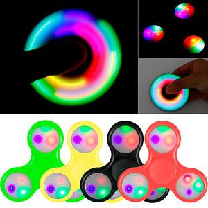 Peonza-Dedos-Antiestres-Relajante-Juego-Fidget-Spinner-con-Luz-LED-metal