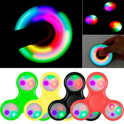 Peonza Dedos Antiestres Relajante Juego Fidget Spinner con Luz LED
