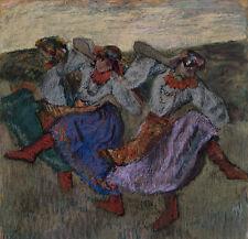 Russian Dancers Edgar Degas Russland Tänzerinnen Röcke Kleider Frauen B A3 01465