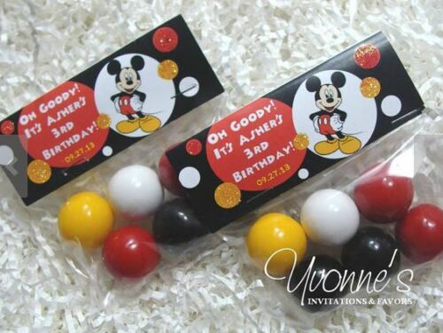 Mickey Mouse Birthday Party Treat Goody Bags Topper /& Cello Bag Set of 12
