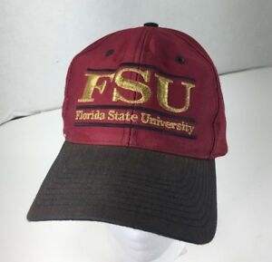 Florida State University Snap Back Split Bar Hat Maroon Gold Black ... d05f6845a8dd