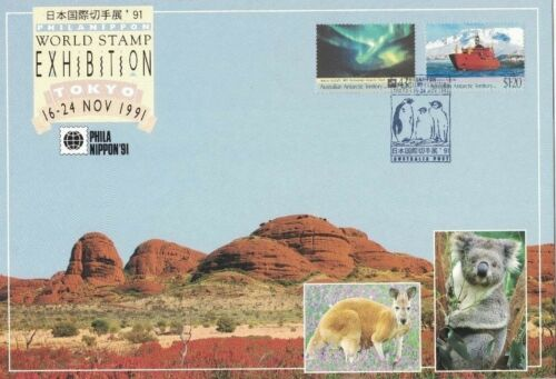 1991 Australia AAT Treaty '91 Exibition Maxi Card SG 889