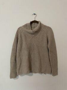 J-Mclaughlin-Women-039-s-Medium-Knit-Turtleneck-Sweater-beige-Size-S
