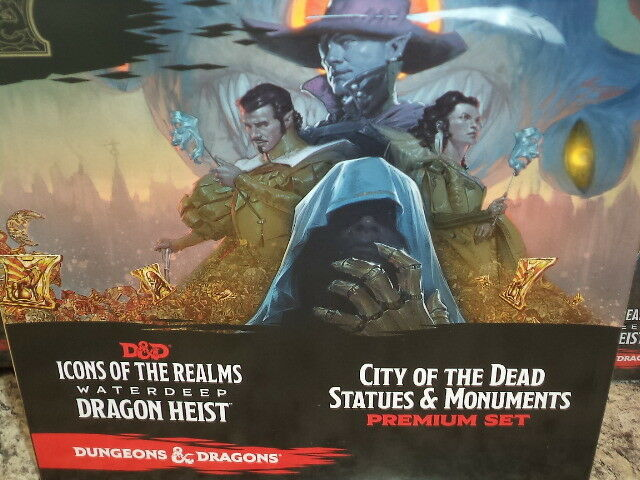City of the Dead Statues and Monuments Waterdeep Dragon Heist D & D Premium Set
