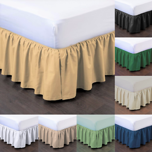 1PC-BEDDING-DRESSING-BED-PLEATED-SKIRT-WITH-OPEN-CORNERS-14-034-INCH-DROP-NEW-STYLE