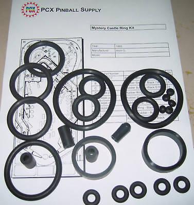 Pistol Poker pinball rubber ring kit 1993 Alvin G /& CO