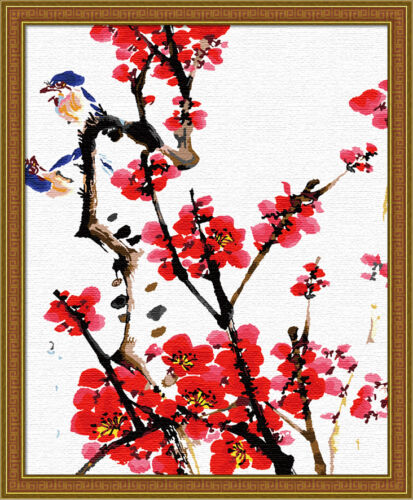 Plum Blossom JC7051 Acrylic Painting by Number Set 50x40cm 20x16/'/'