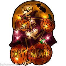 49cm Happy Halloween Party SKELETON Light Up Silhouette Window Decoration