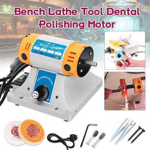 350W Bench Electric Grinder Polishing Machine For Jewelry Dental Lathe Motor UK