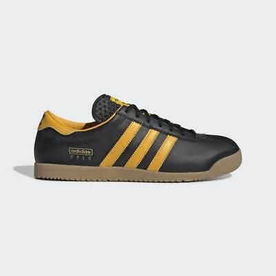 Adidas Men Originals Oslo Shoes Black Yellow Leather Trainers | eBay