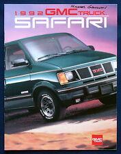 Prospekt brochure 1992 GMC Safari Van (USA)