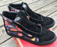Vans Womens Sk8 Hi Slim Zip Galaxy Floral Black Sz 8