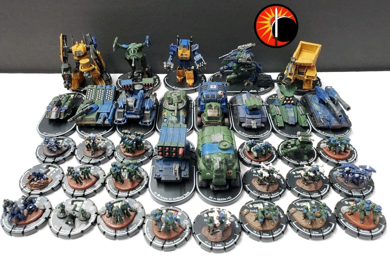 B5 MechWarrior (Wizbambini) Lot - Mechs Vehicles Infantry - Swordsworn  Clan Fazione  saldi
