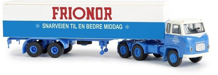 Brekina 85183 - 1 87 Scania Lbs 76 Koffer-Sattelzug - - - Sties Frionor - Neu c9f08b