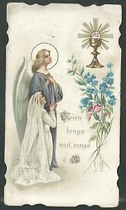 Estampa-antigua-del-Angel-de-la-Guarda-andachtsbild-santino-holy-card-santini
