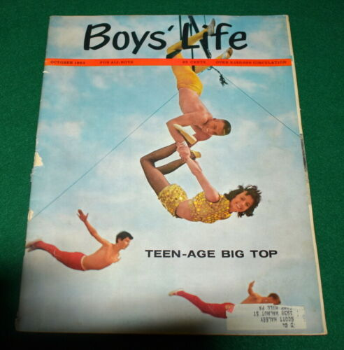 OCTOBER * VINTAGE BOY SCOUT 1963 BOYS/' LIFE