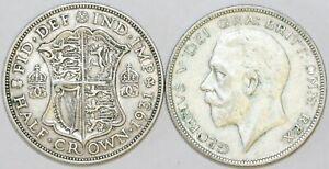 1928 To 1936 George V Silver HalfCrown deuxième conception de votre choix date/Année