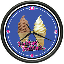 SOFT SERVE Wall Clock ice cream cone shop parlor decor