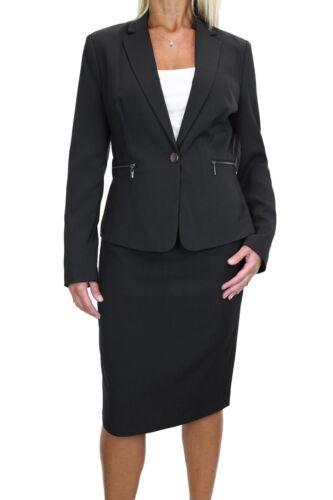 Zip Pockets Business Lined Blazer Jacket Skirt Suit 8-20 6487 ICE