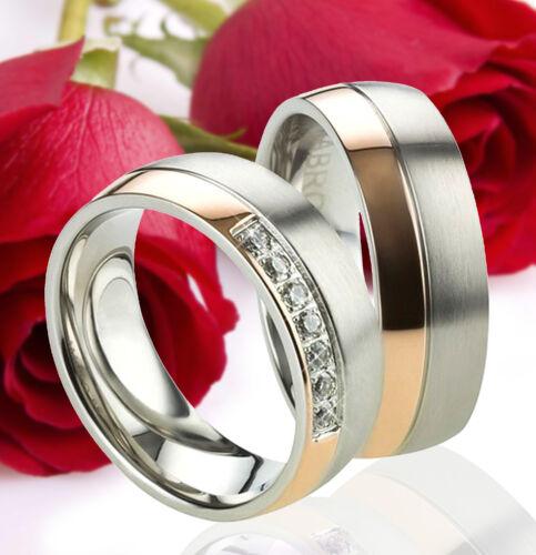2 alianzas compromiso Rose oro chapados grabado gratis te2438 alianzas de amistad