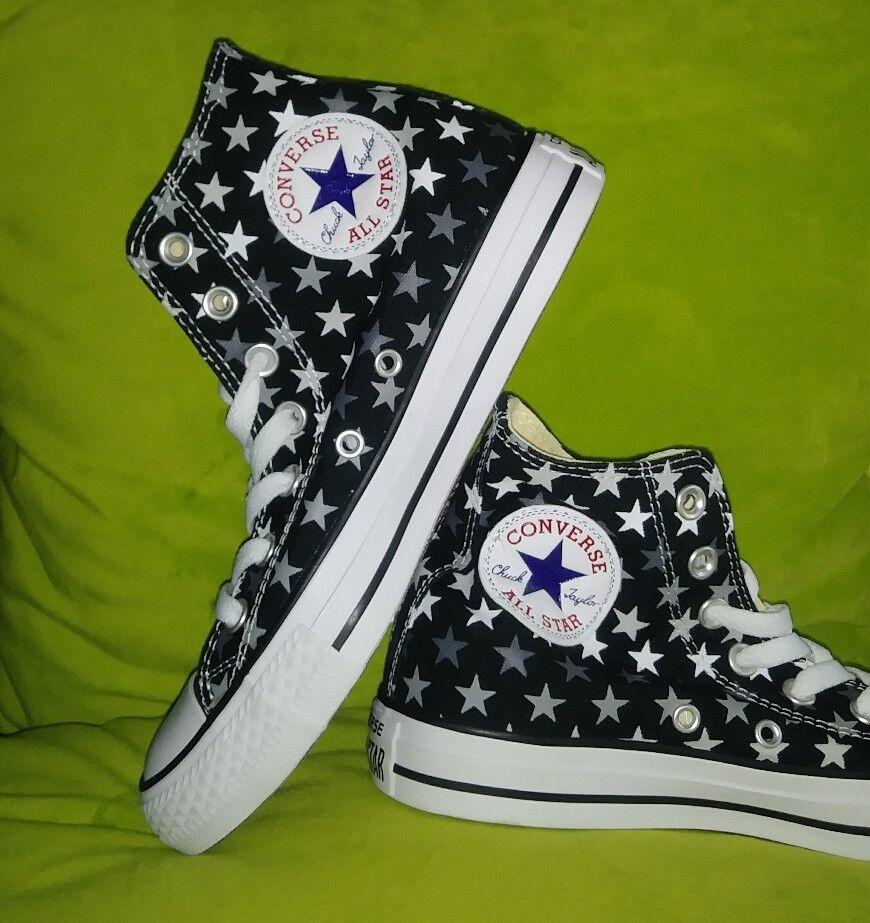 NEW Converse Chuck Taylor Star Black White White White Repeat Pattern Sz Women's 7 f665c5