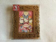 Hello Kitty Gold 40th Anniversary Wood Scroll Carved Picture Frame NIB