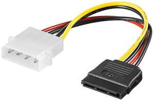 Strom-Adapter-4pol-Stecker-auf-S-ATA-4-pol-5-25-Powerstecker-15-pol-S-ATA