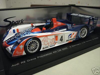 AUDI  R8  LE MANS 2005   4 ORECA PLAYSTATION 1 18  SPARK S1803 voiture miniature