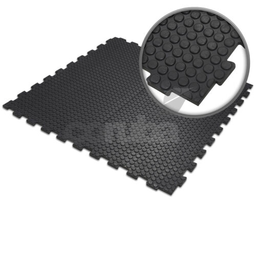 Heavy Duty Linkable Solid Rubber Studded Interlocking Gym Mats