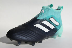 hot sale online c2ad1 201bb Image is loading adidas-ACE-17-PURECONTROL-FG-Navy-Blue-BY3063-