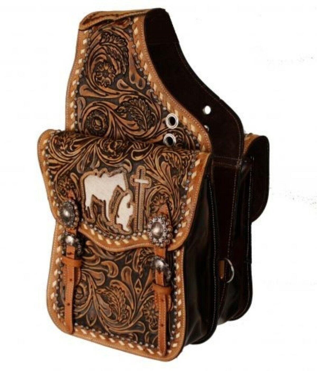 SHOWhomme Medium huile avec outils en Cuir Selle Sac avec cheveux sur vachette Prier Cowboy