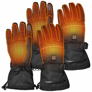 2 Pairs XL Electric Heated Gloves Thermal Touchscreen Winter Outdoor Hand Warmer