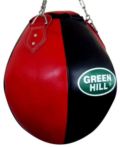 Greenhill Wrecking Ball Leather Upper Cut Heavy Filled Bag Kicks Punches MMA UFC