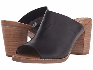 ef6a5904e02 Image is loading TOMS-Black-Majorca-Mule-Leather-Shoes-Style-10007901