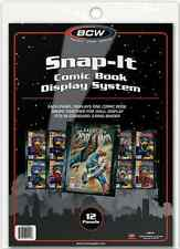 (12) BCW-SI-CB-BLK Current Silver Age Comic Book Snap It Binder Sleeves Panels
