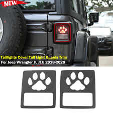 Rear Taillights Cover Tail Light Guards Trim For Jeep Wrangler Jl 2018 Pawprint Fits Jeep