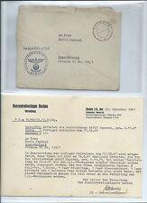 Feldpost SS KZ Dachau KL Neuengamme 1941