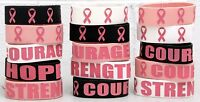 Breast Cancer Awareness Jumbo Rubber Band Bracelets Pink Ribbon Bracelet Jewelry