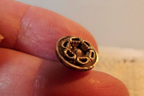 Small Steel Cup Button 475 Floral Brass Border