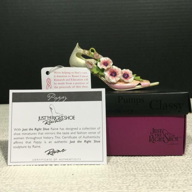 Just the Right Shoe 802818 POPPY Miniature Resin Pink Ribbon Shoe by Dept.56
