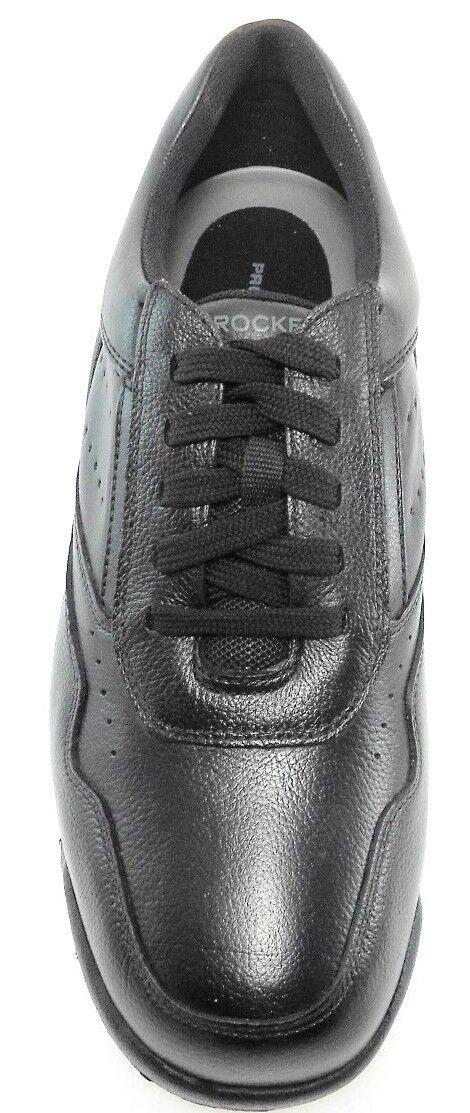 ROCKPORT PROWALKER LEATHER K71096 CLASSIC MEN'S BLACK LEATHER PROWALKER WALKING Schuhe EX-WIDE(XW) 400591