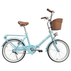 Dettagli Su Bici Bicicletta Pieghevole Bellissima Graziella 20 Turchese Con Cestino