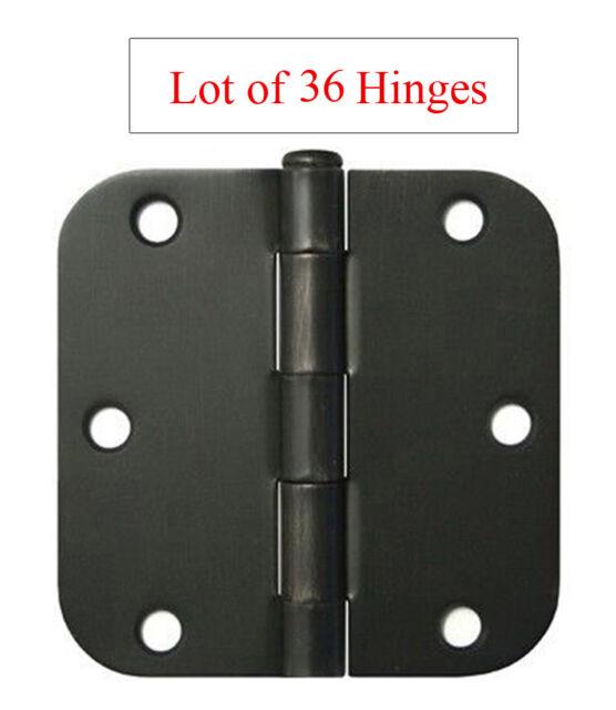 """Multi-pieces Oil Rubbed Bronze 3.5/"""" X 5//8 Radius Door Hinge interior free ship"""
