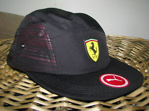 ab6f2769573 Image is loading PUMA-FERRARI-Trucker-Baseball-Cap-Hat-Black