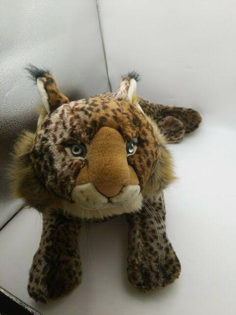 """Melissa Doug Giant Lynx Lifelike Stuffed Animal Plush Toy 26"""" long"""