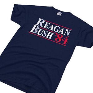 Reagan Bush 84 Political Election Tee Conservative 80s