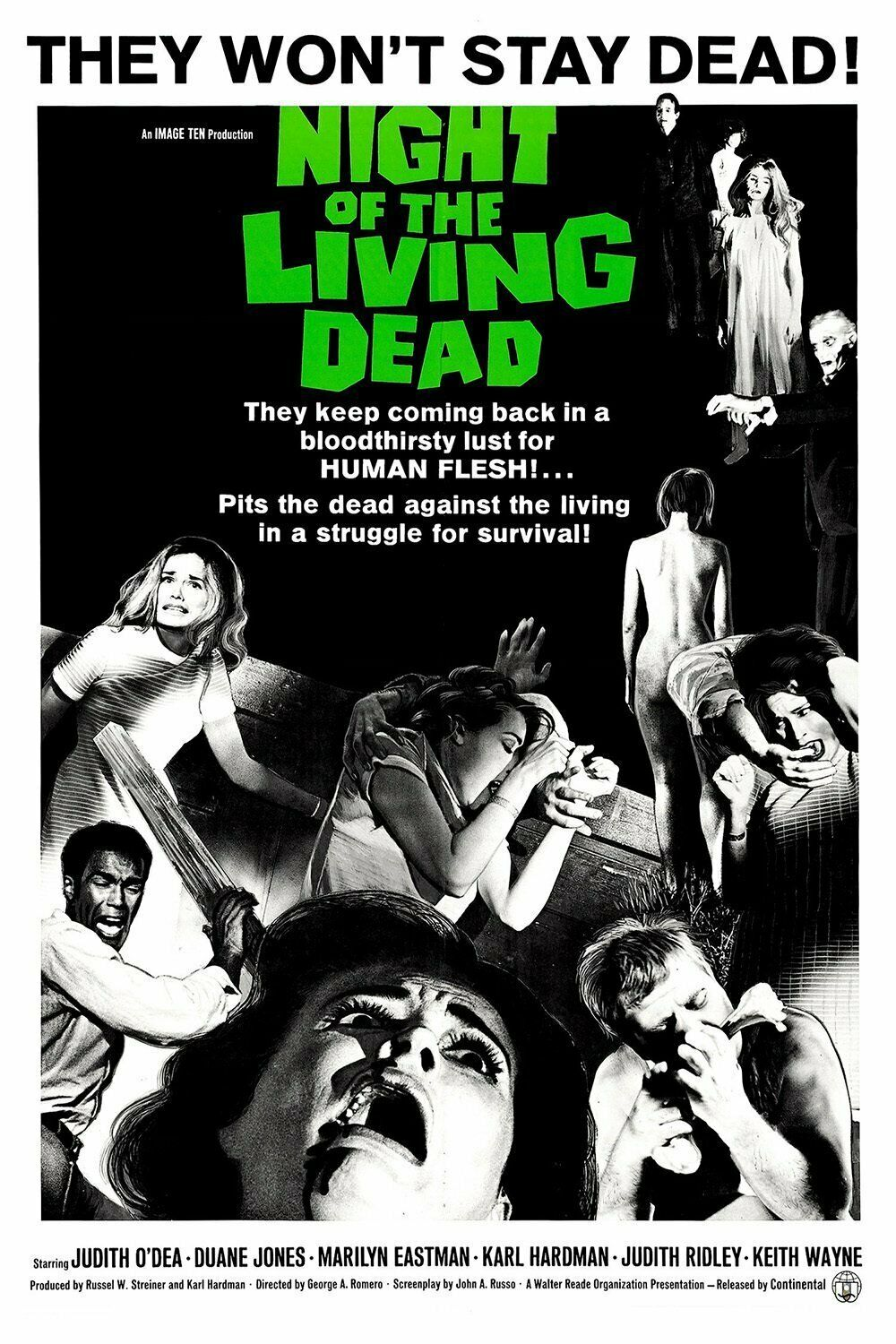 Night of the Living Dead Movie Poster Photo 8x10 11x17 16x20 22x28 24x36 27x40