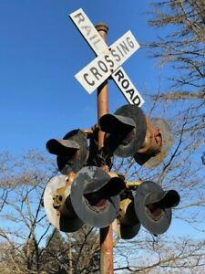 Details about Vintage Railroad Crossing Signal